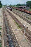 Treno rosso regionale Immagini Stock Libere da Diritti