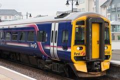 Treno in Scozia Immagine Stock