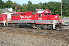 Treno Sittin di RJ Corman a PA Cresson Fotografie Stock