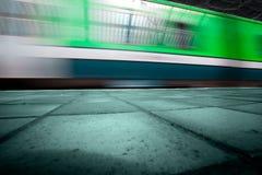 Treno sotterraneo Immagini Stock Libere da Diritti