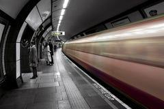 Treno sotterraneo Fotografie Stock Libere da Diritti