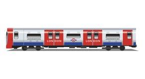 Treno sotterraneo del tubo di Londra Fotografia Stock