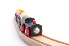 Treno su una pista - DOF poco profondo Immagini Stock