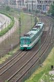 Treno suburbano Fotografia Stock