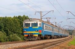 Treno suburbano nel Belarus Immagini Stock