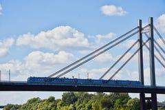 Treno sul ponte fotografia stock libera da diritti