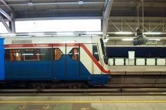 treno sul sottopassaggio Fotografia Stock Libera da Diritti