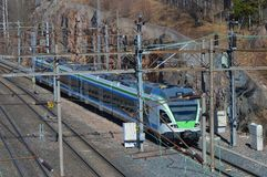 Treno sulla ferrovia 2 Immagine Stock Libera da Diritti