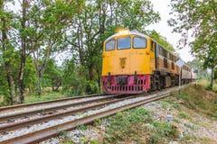 Treno sulla ferrovia Fotografia Stock