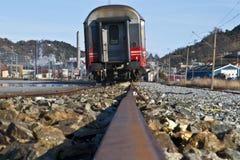Treno sulla riga Immagini Stock