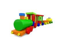 Treno sveglio del giocattolo Immagine Stock