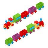 Treno Toy Isometric View del trasporto Vettore Fotografie Stock Libere da Diritti