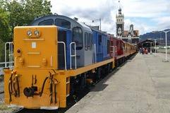 Treno turistico dell'annata Immagini Stock Libere da Diritti