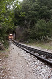 Treno, a un solo binario in Kalavrita, Grecia Immagine Stock Libera da Diritti