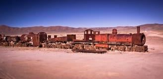 Treno a Uyuni Fotografia Stock