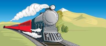 Treno a vapore Immagini Stock Libere da Diritti