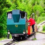 Treno a vapore. Immagini Stock