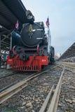 Treno a vapore alla ferrovia dello stato della Tailandia 119 anni di anniversario Immagine Stock