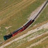 Treno a vapore che si dirige da Brienz per montare Brienzer Rothorn, Switz Fotografia Stock Libera da Diritti