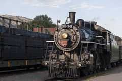 Treno a vapore d'annata Fotografie Stock