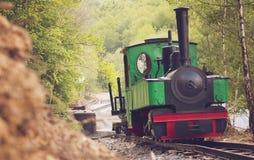 Treno a vapore del calibro stretto Fotografia Stock