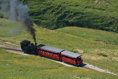 Treno a vapore/ferrovia di Brienzer Rothorn (BRB) Fotografie Stock Libere da Diritti