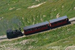Treno a vapore/ferrovia di Brienzer Rothorn (BRB) Fotografia Stock