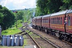 Treno a vapore, Hampton Loade immagini stock