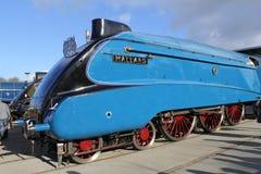 A4 treno a vapore Mallard fotografia stock libera da diritti