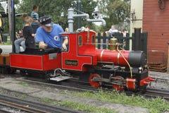 Treno a vapore miniatura Immagini Stock