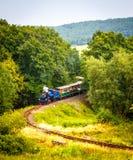 Treno a vapore a scartamento ridotto Fotografia Stock Libera da Diritti