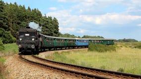 Treno a vapore storico Fotografia Stock