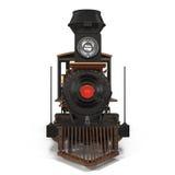 Treno a vapore su un'illustrazione bianca 3D Immagini Stock