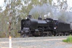 Treno a vapore sulla pista Immagine Stock