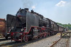 Treno a vapore tedesco storico 06-018 Immagini Stock