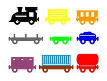 Treno variopinto del giocattolo fotografie stock