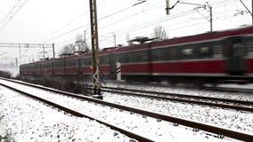 Treno veloce video d archivio