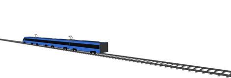 Treno veloce blu di vettore su bianco royalty illustrazione gratis