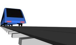 Treno veloce blu di vettore su bianco illustrazione vettoriale