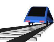 Treno veloce blu di vettore su bianco illustrazione di stock