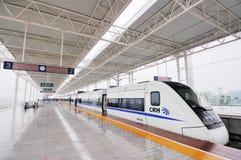 Treno veloce cinese Fotografie Stock