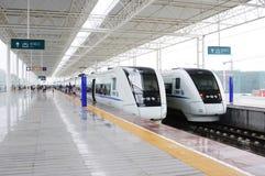 Treno veloce cinese Immagine Stock Libera da Diritti