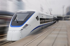 Treno veloce cinese del nuovo modello Fotografia Stock