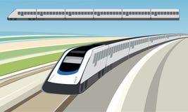 Treno (vettore) Fotografie Stock Libere da Diritti