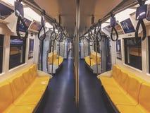 Treno vuoto della metropolitana Fotografie Stock