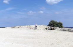 Trenować przy plażą Fotografia Royalty Free