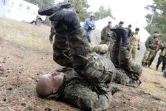 Trenować rosjanin policja zmusza specjalne pacnięcie Fotografia Royalty Free