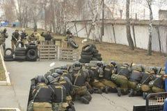 Trenować rosjanin policja zmusza specjalne pacnięcie Zdjęcie Stock