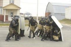 Trenować rosjanin policja zmusza specjalne pacnięcie Zdjęcia Stock