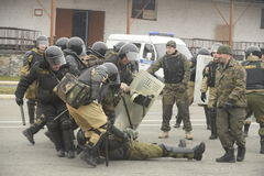 Trenować rosjanin policja zmusza specjalne pacnięcie Obrazy Stock